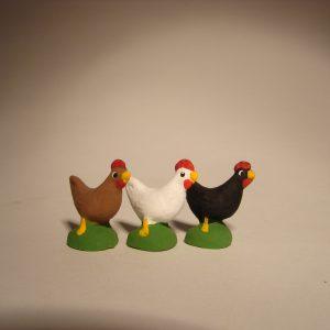 Poule pour santons de 7 cm
