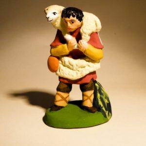 Berger portant un agneau en 7 cm