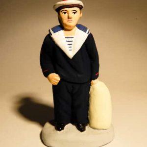 Marin en tenue de sortie Bleue en 7 cm