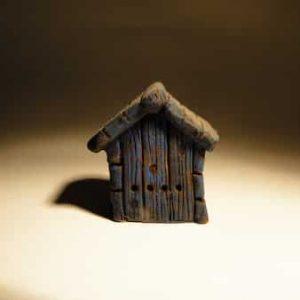 Ruche en forme de maison pour santons de 7 et 9 cm