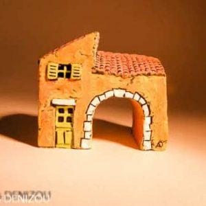 Mini Arche en plâtre pour santons puces (2cm)