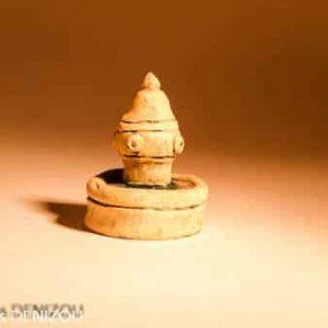 Mini Fontaine Ronde en Pla^tre pour santons puces (2cm)