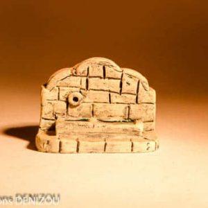 Mini Fontaine-Lavoir en Plâtre pour santons puces (2cm)
