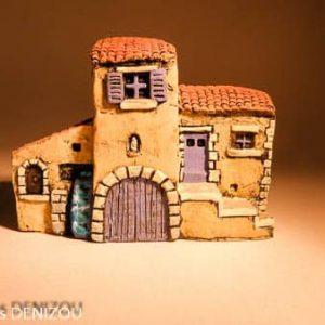 Mini Moulin à eau en Plâtre pour santons puces (2 cm)