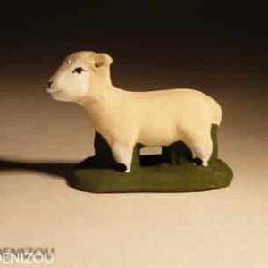 Santon mouton debout pour 4 cm