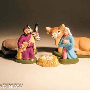 Santon Nativité complète en 4 cm