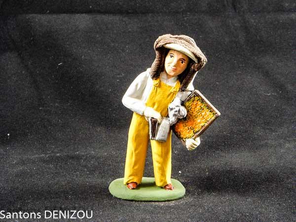 Santon d'apiculteur en 9 cm