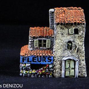 Boutique de Fleuriste pour santons de 2cm