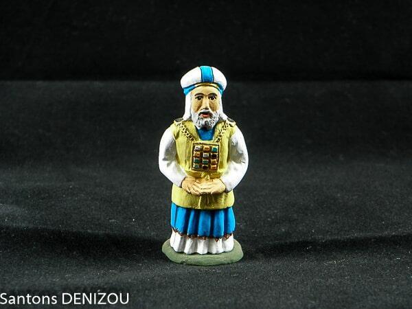 grand prêtre de 7 cm pour la crèche Blanche