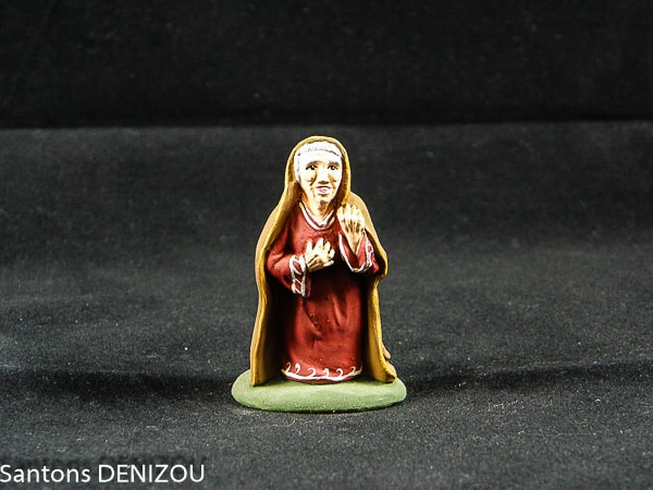 Sainte Anne 7cm pour creche blanche