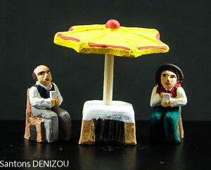 Table de jeu et parasol Puce