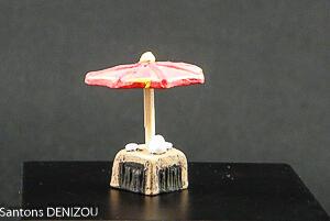 Table de café et parasol Puce