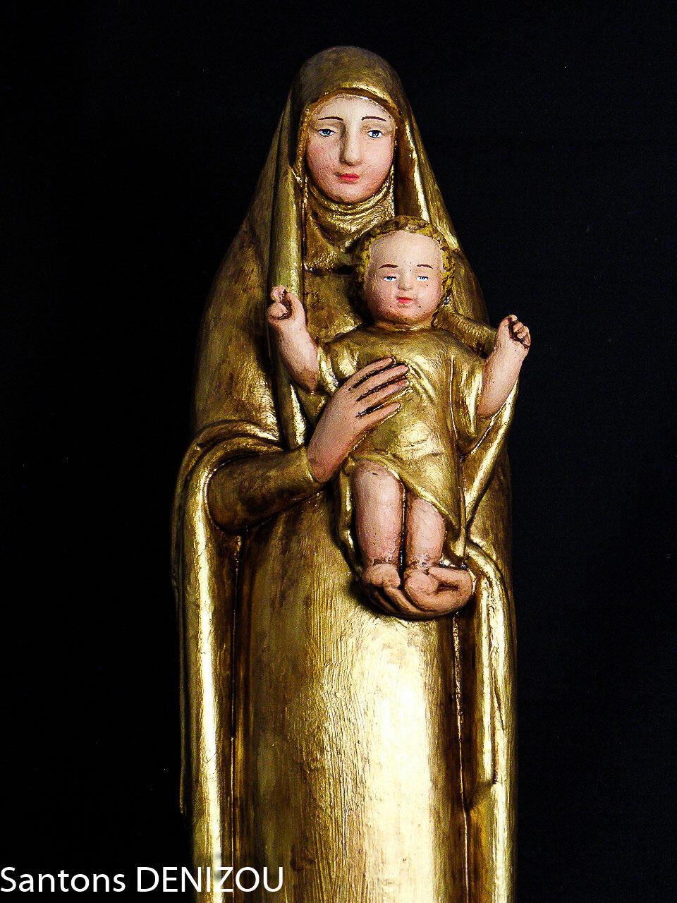 Vierge dorée