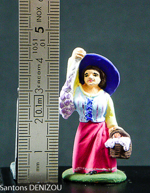 Marchande d'ail en 4cm